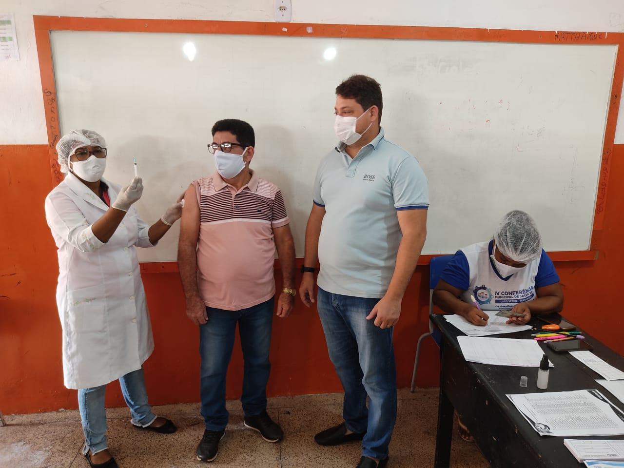Imunização: Secretaria Municipal de Saúde inicia vacinação da Covid-19, dos profissionais da educação de Lago Verde.
