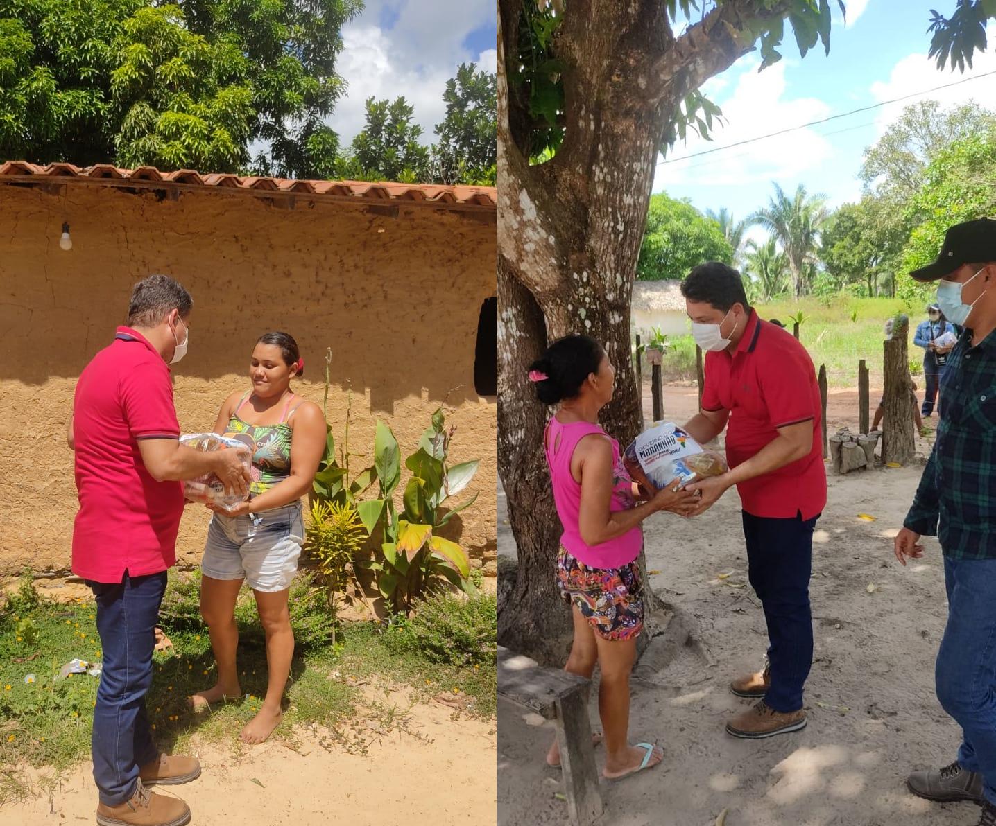 Prefeitura de Lago Verde entrega cestas básicas, para famílias carentes do município.